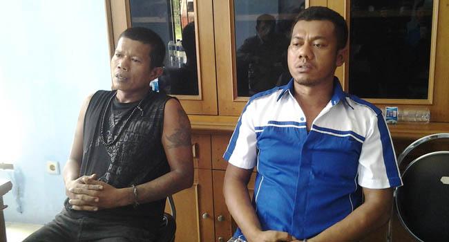 Roni Ardi (48) dan Taufik (38) yang sempat dilaporkan kabur dari Lapas Lubuk Basung (lukman)