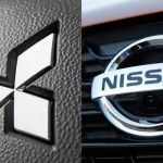 Ilustrasi logo Nissan dan Mitsubishi (motor1/okezone.com)