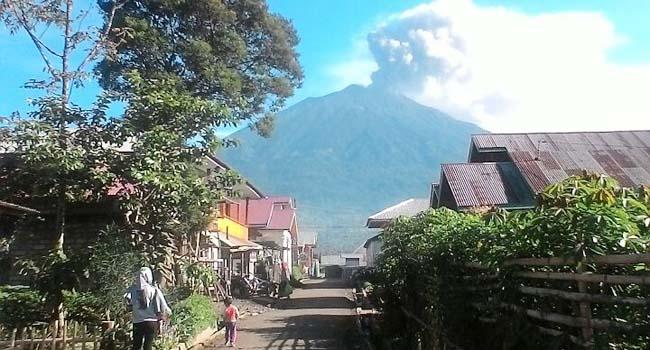Kondisi Gunung Kerinci (bnpb)