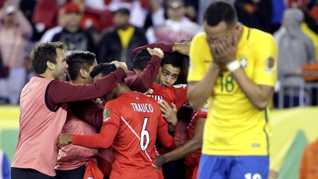 Peru berhasil mengalahkan Brasil 1-0. (*)