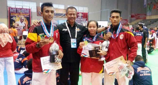 Para atlet tarung derajat peraih medali (ist)