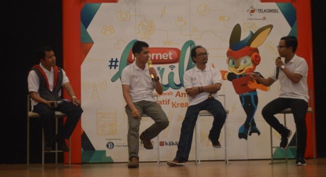 Telkomsel mengadakan reoadshow #internetBaik ke sejumlah daerah. (*)