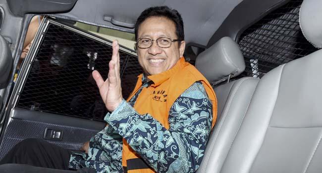 Irman Gusman usai diperiksa di Gedung KPK (antara foto)