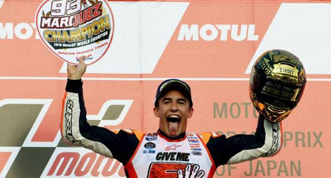 Marc Marquez menjadi juara dunia MotoGP 2016. (okezone)