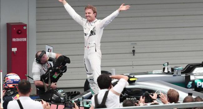 Nico Rosberg menang di GP Jepang. (okezone)