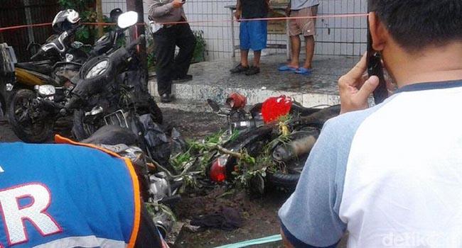Kerusakan akibat bom molotov di Samarinda (ist)