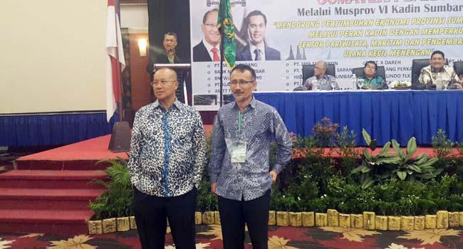 Kandidat Ketua Kadinda Sumbar, Budi Syukur dan Ramal Saleh. (ist)