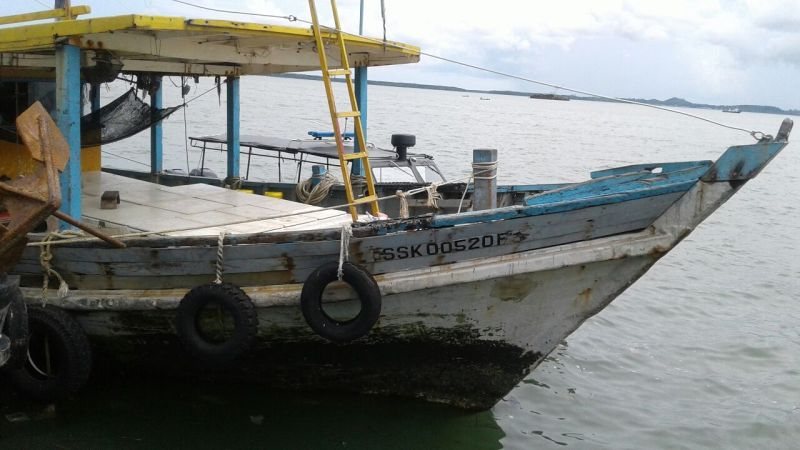 Foto salah satu kapal yang dinahkodai oleh WNI yang diculik di perairan Sabah (Foto: PWNI Kementerian Luar Negeri Indonesia)