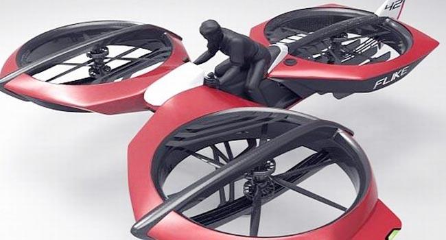 Motor terbang Tricopter (autoevolution)