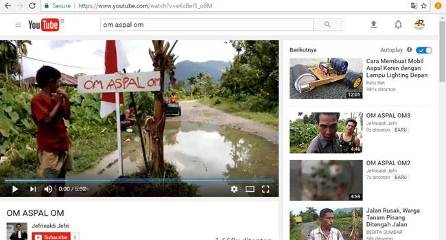 Om Aspal Om di youtube. (*)