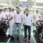 Marquez dan Pedrosa kunjungan ke pabrik Honda (okezone/ahm)