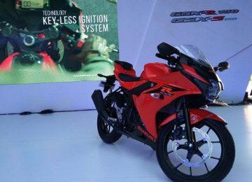 Suzuki meluncurkan GSXR150cc dan GSX-S150cc sebagai motor Sport 150cc dengan teknologi mesin Double Over Head Camshaft di Indonesia. (*)
