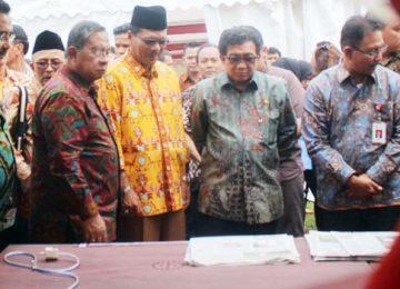 Menko Perekonomian Darmin Nasutian di sela-sela Peluncuran Program 'AKSI Pangan' di Limapuluh Kota (bayu)