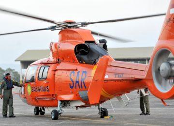 Helikopter Basarnas. (okezone)