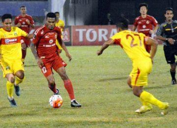 Aksi Vendry Mofu saat hadapi Bhayangkara FC (ist)