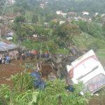 Bus maut yang kecelakaan beruntun di Ciloto, Cianjur, Jawa barat (Foto: Putra Ramadhani Astyawan/Okezone)