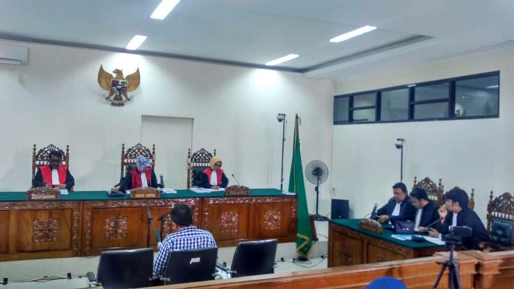 Sidang pembacaan tuntutan terhadap Xaveriandy Sutanto di Pengadilan Tipikor Padang (ist)
