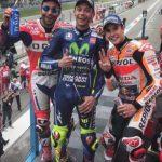 Rossi, Petrucci, Marquez. (foto: MotoGP)