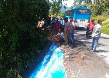 Lokasi diduga korban jatuh tunggal di Kenagarian Siguntur Tua, Kecamatan Koto XI Tarusan. (niko)