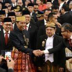 Presiden dan Wakil Presiden berpakaian adat saat menghadiri Sidang Tahunan DPR/DPD/MPR.(ist)