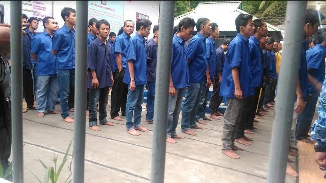 Narapidana di Sawahlunto tengah menunggu penyerahan remisi di Hari Kemerdekaan RI ke 72.(armadison)