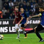 Mauro Icardi cetak hattrick ke gawang AC Milan. (okezone)