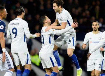 Selebrasi gol pemain Chelsea (standard.co.uk)