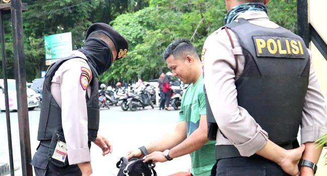 Dibantu Brimob, Polresta Padang Perketat Pengamanan